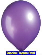 Bask�s�z 12 inc Metalik Mor balon